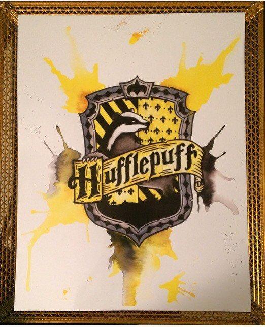 Original painting Hufflepuff Crest Watercolour Illustration