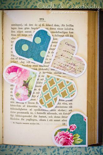 Pretty DIY bookmarks