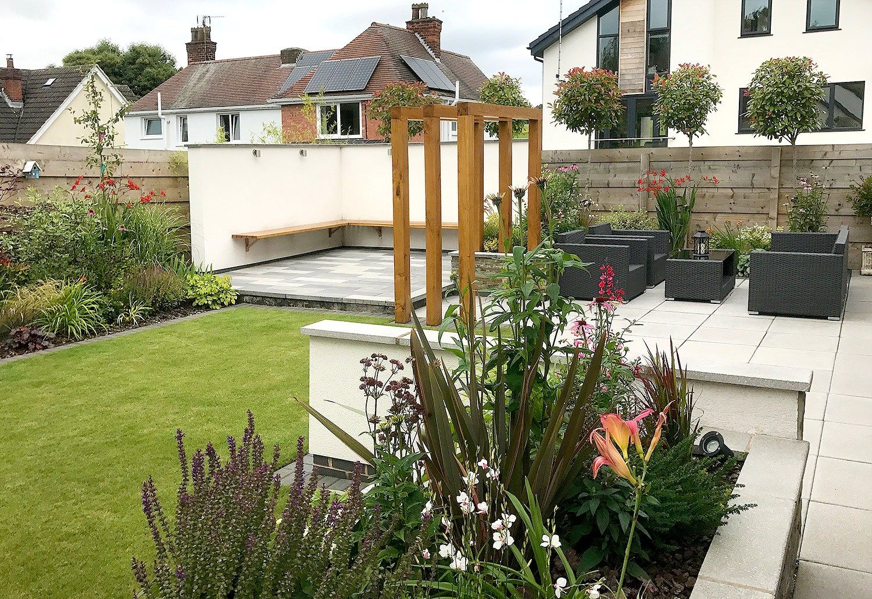 The Completed Garden Modern Landscaping Garden Design Lush Garden