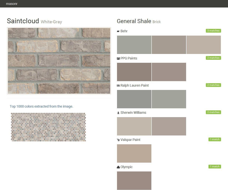 saintcloud white gray brick general shale behr ppg on behr paint comparison chart id=49662