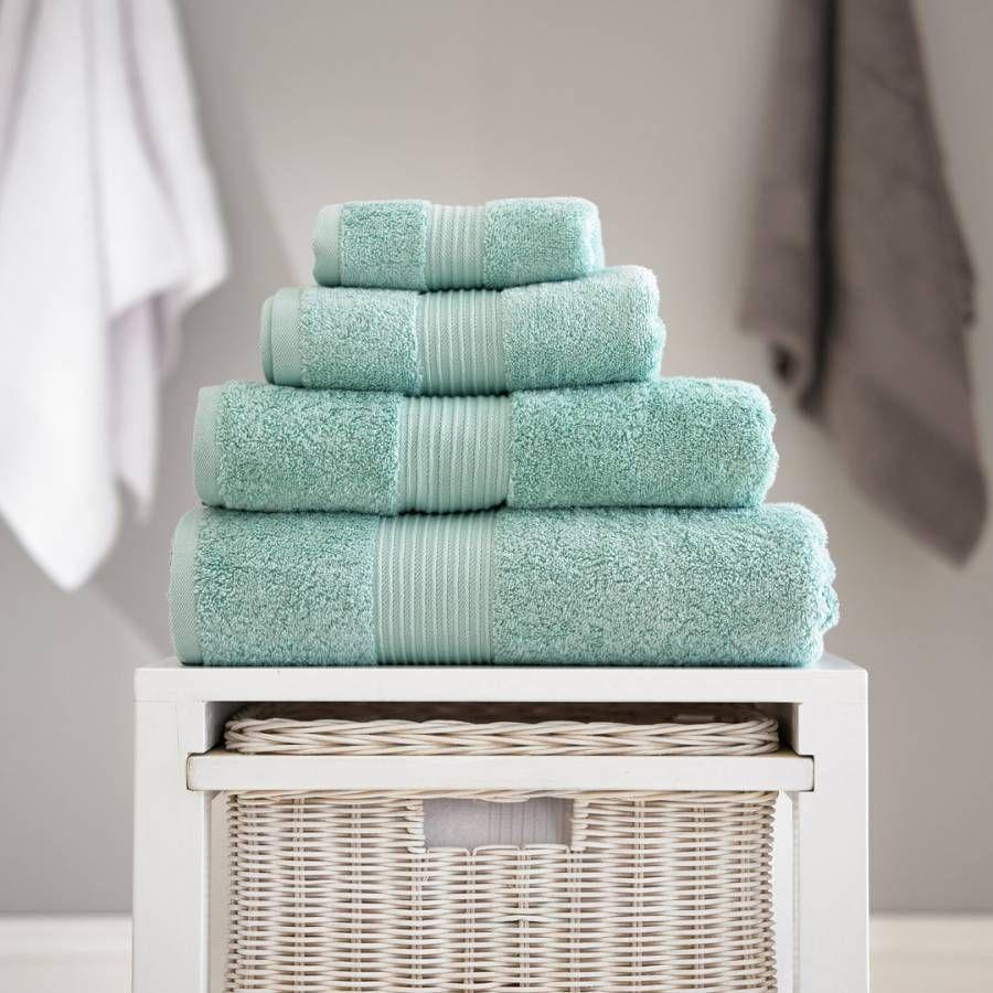 Pima Cotton Bath Towel Spearmint Teal Bath Towels Towel Bath