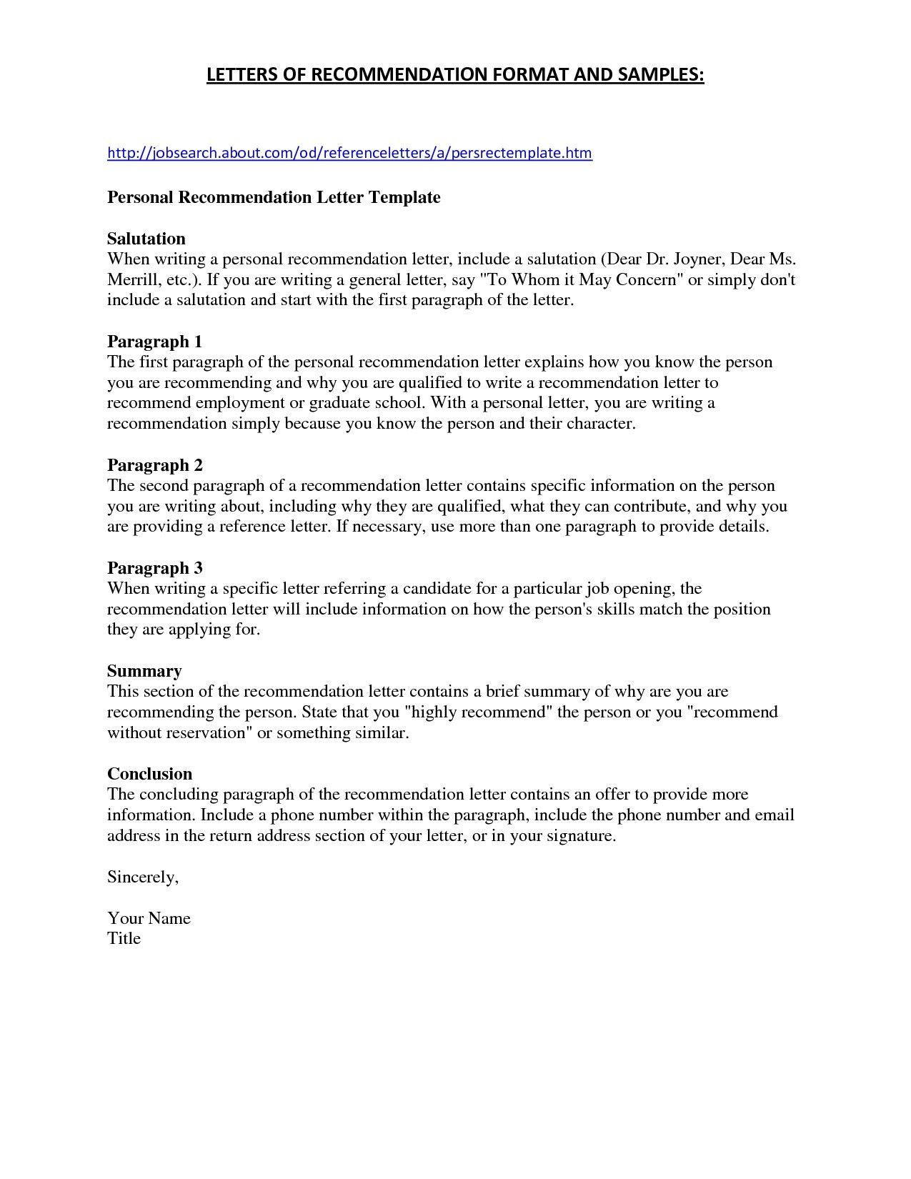 Read This Before You Write Letter Of Recommendation Template
