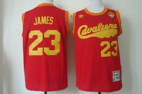 mens cleveland cavaliers lebron james 2016 the nba finals patch 2009 red hardwood classics soul swingman throwback jersey