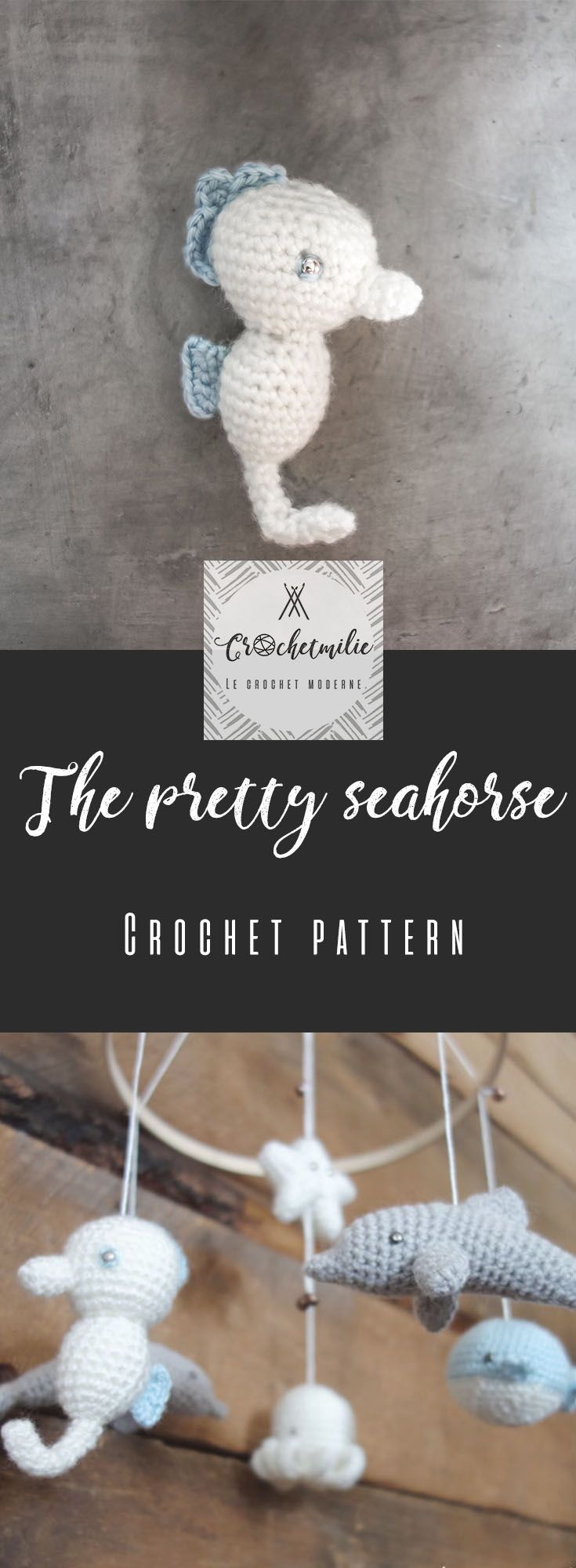 CROCHET PATTERN : the pretty seahorse by CROCHETMILIE ...