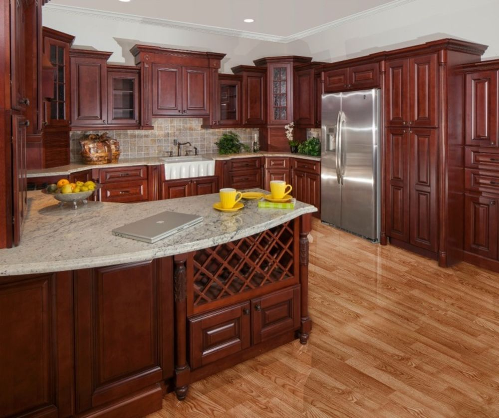 10x10 kitchen cabinets - All Wood 10x10 Kitchen Cabinets Sonoma Merlot Rta