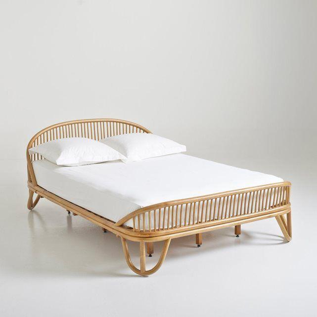 lit en canne de rotin malu la redoute interieurs. Black Bedroom Furniture Sets. Home Design Ideas