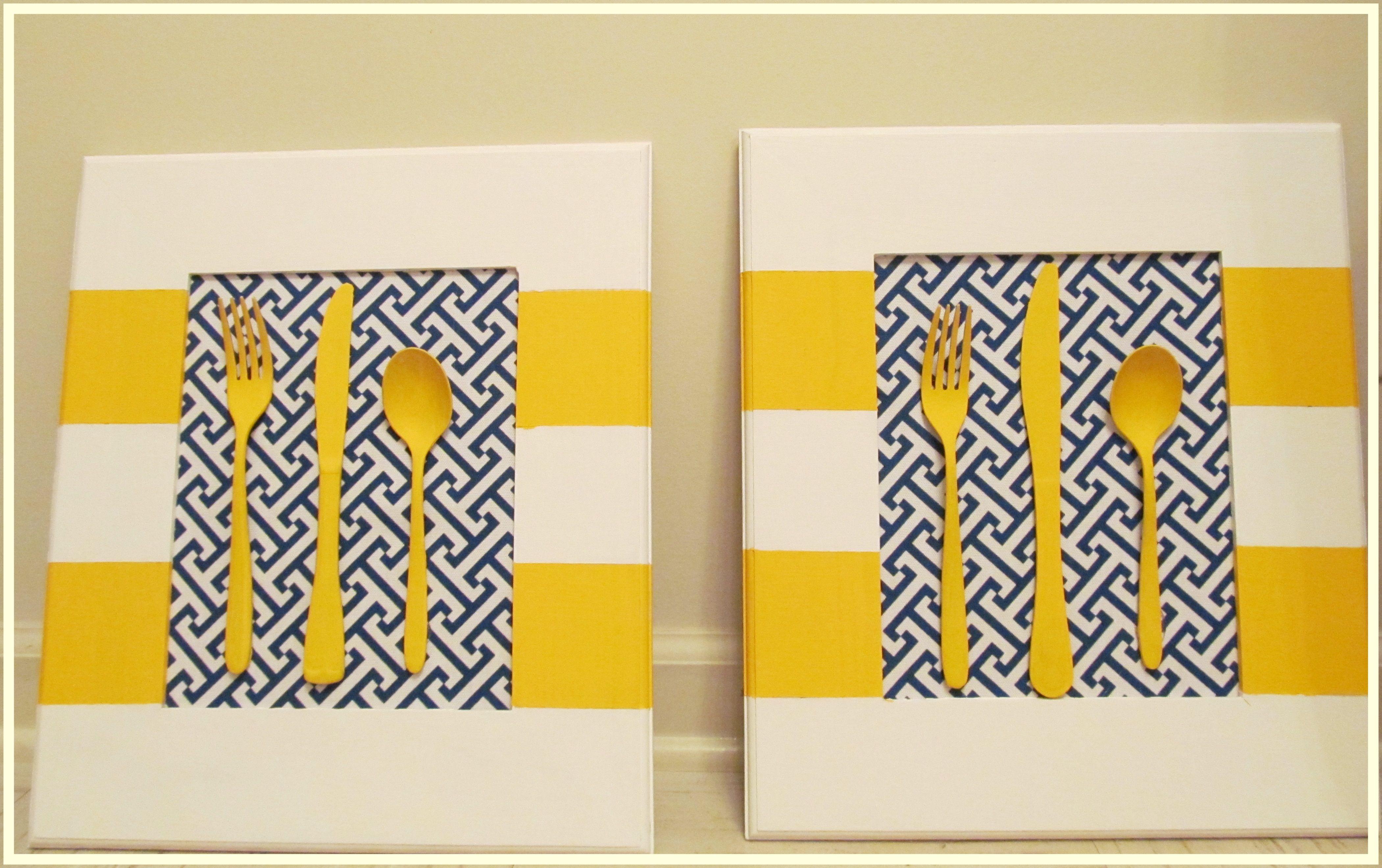 diy kitchen wall art! | hagamoslo! | Pinterest | Kitchen wall art ...