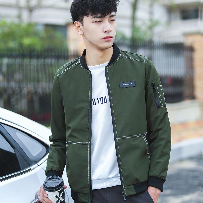 Hot Selling Korean Student Jacket Mens Fashion Thin Bomber Jackets