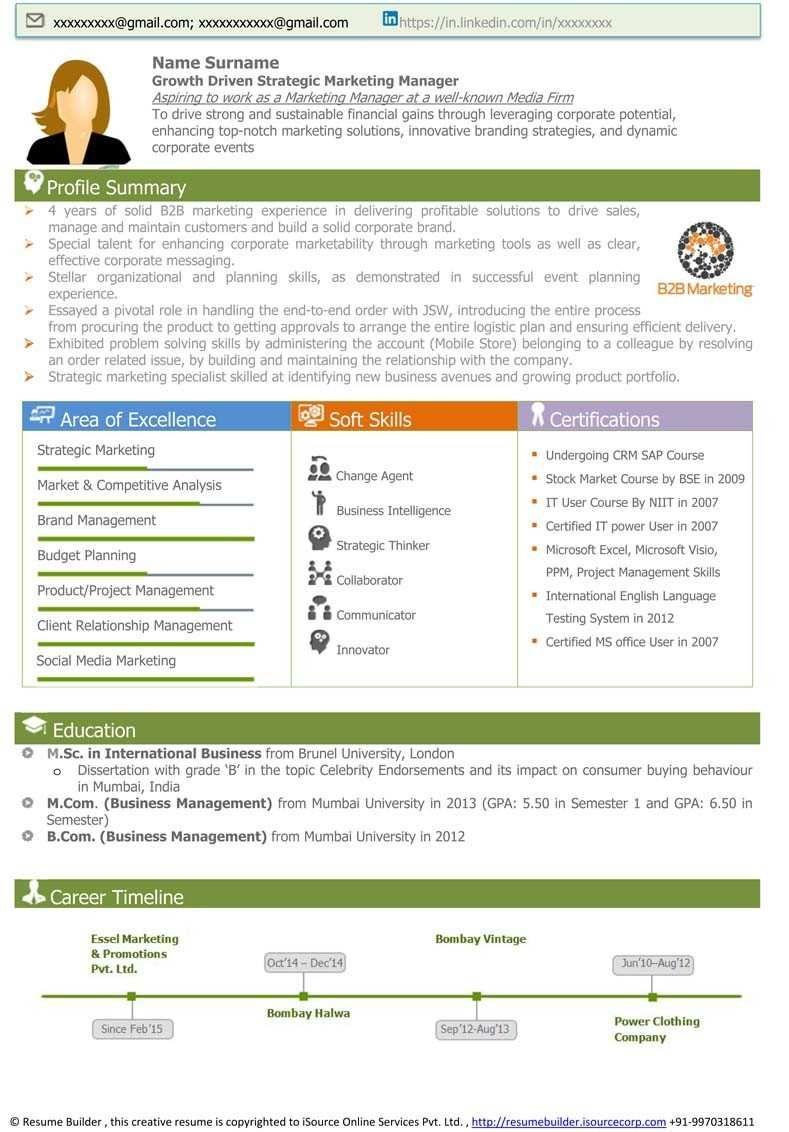 42 Perfect Visual Resume Templates Bw E97145 Resume