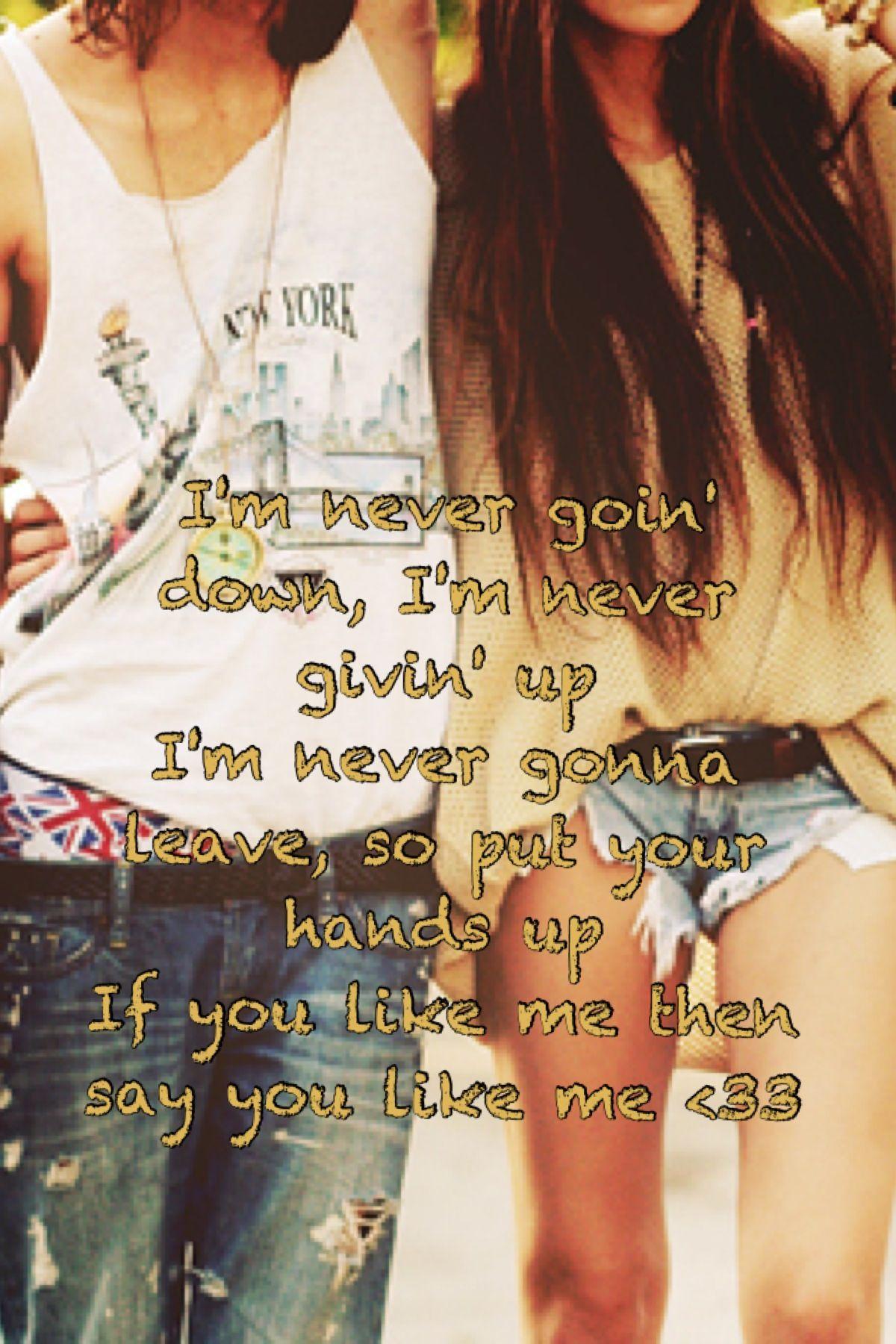 if you like me then say you like me lyrics
