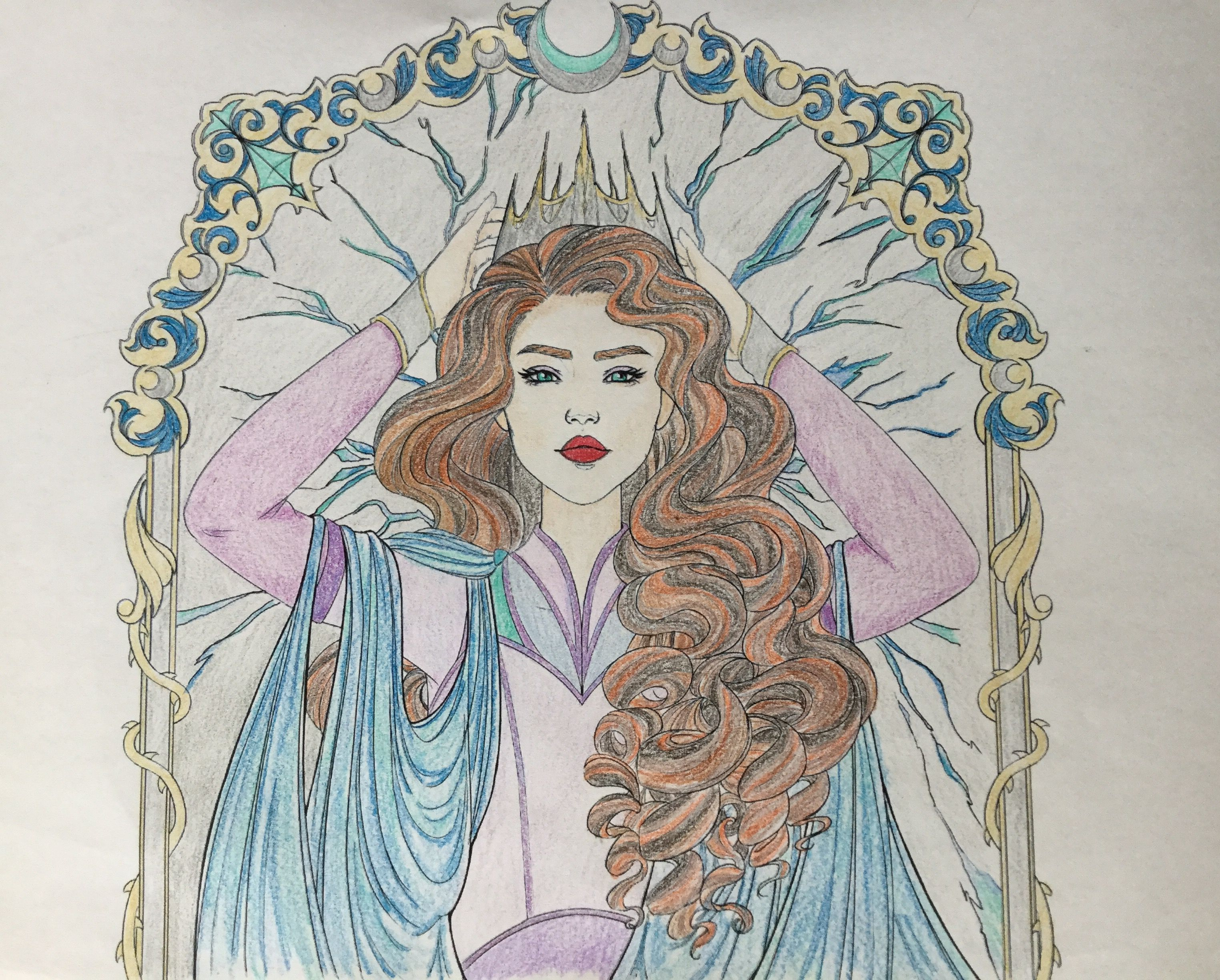 This Is A Picture Of Levana That I Colored From Marissa Meyers S