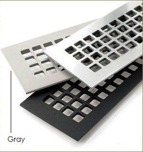 "12""x2.25"" Floor Grille - Square Design Gray Aluminum (G414ANH) RR by pasutech, http://www.amazon.com/dp/B00AY2BO2C/ref=cm_sw_r_pi_dp_kP2prb0KH0BG5"