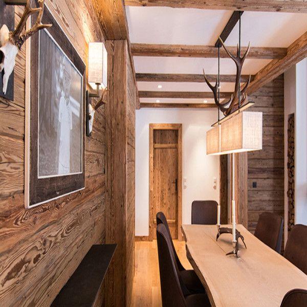 Altholz Wand Mit Esstisch Aus Massivem Holz Altholz Design