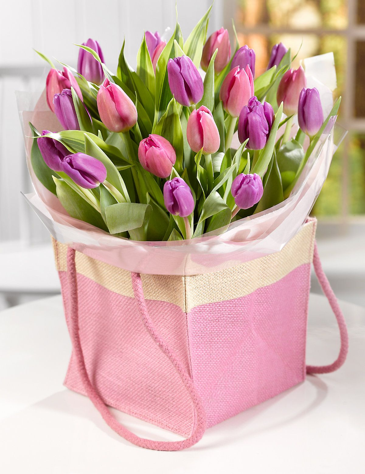 Mother S Day Tulip Gift Bag M S Flowers Bouquet Gift Flower