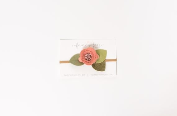 GRAPEFRUIT // single felt flower headband or alligator clip #feltflowerheadbands