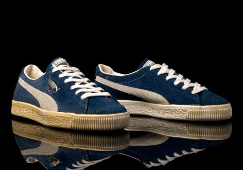 OG Puma Clyde Made In Yugoslavia in Blue Colourway Photographed by Errol  Thomas  eatmoreshoes. 092396068