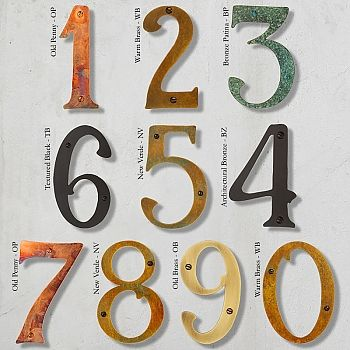 0 Through 9 Each In Your Choice Of Seven Finishes Address Numbers Seattleluxe Com House Numbers Illuminated House Numbers Metal House Numbers