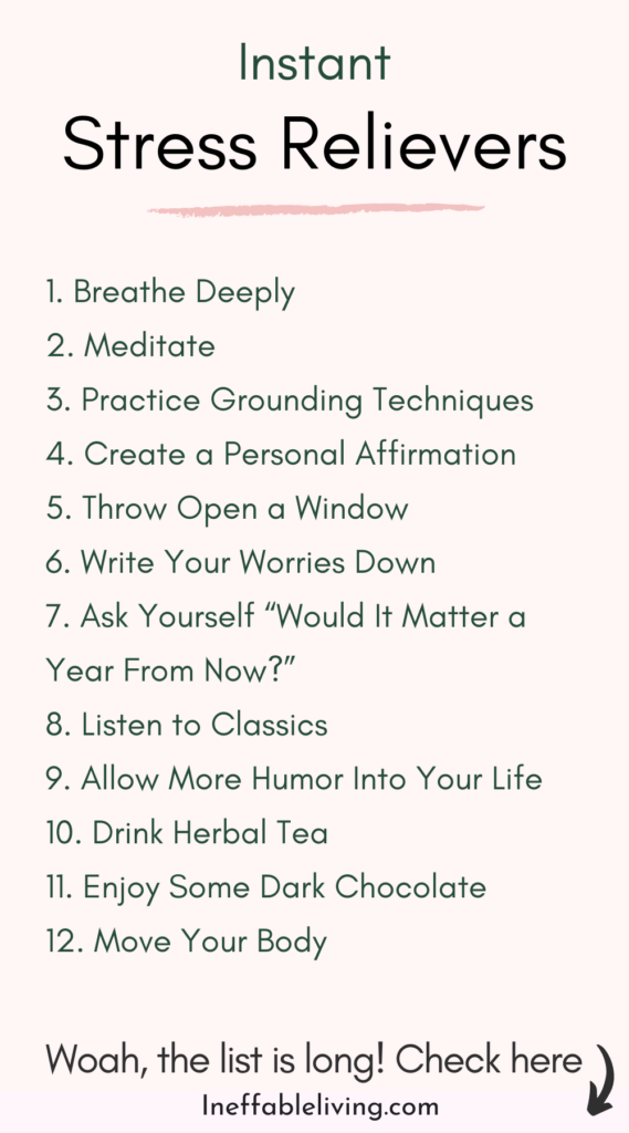 Definitive Guide to Relieve Stress Instantly and Lead a Peaceful Life - Ineffable Living