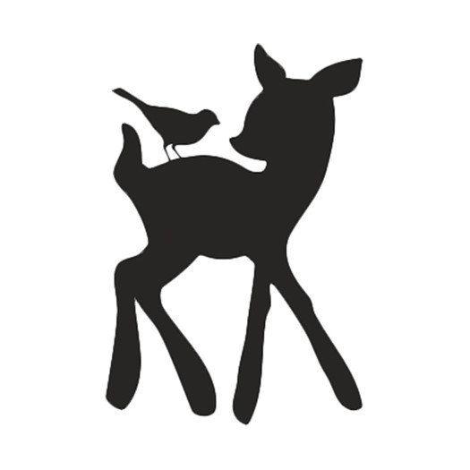 Fawn Bird Animal Baby Deer Stencil Wall Stencil Painting
