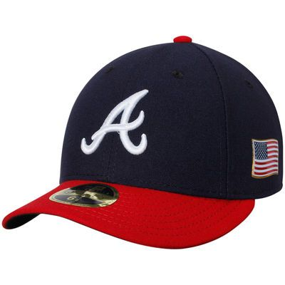 Atlanta Braves New Era Authentic Collection On-Field 59FIFTY Low Profile  Fitted Hat with 9 11 Side Patch - Navy 1adedfa9a2d