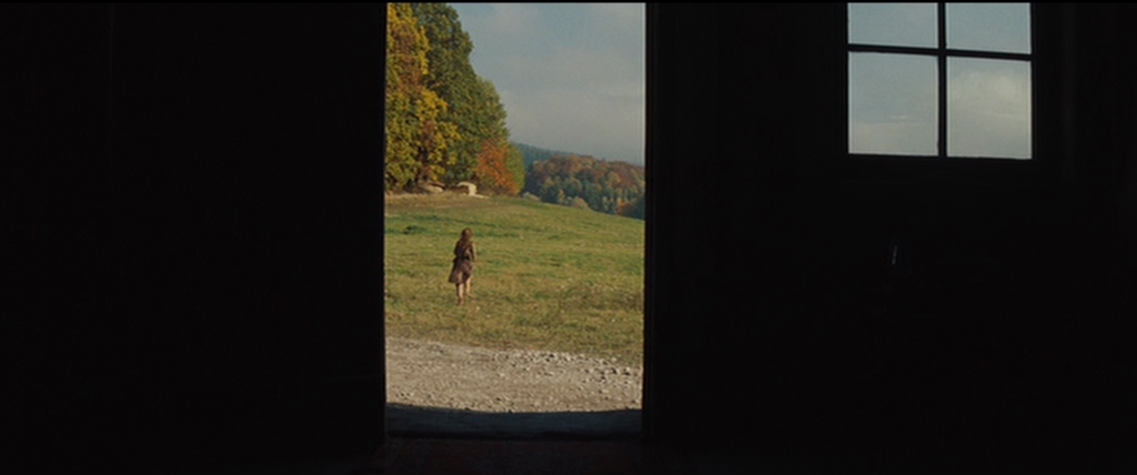 Rectangles, as explained by the book, are used to show instability and interest. One of the best uses of the rectangle shape is in the film Inglorious Basterds. In this scene, a Jewish girl is escaping as Nazi's kill her family. The rectangle is used to accentuate the lack of stability as she flees.