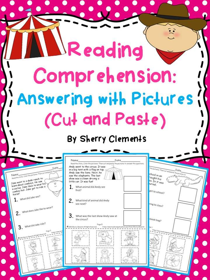 Reading Comprehension: Answering with Pictures (Cut and Paste) (Set ...