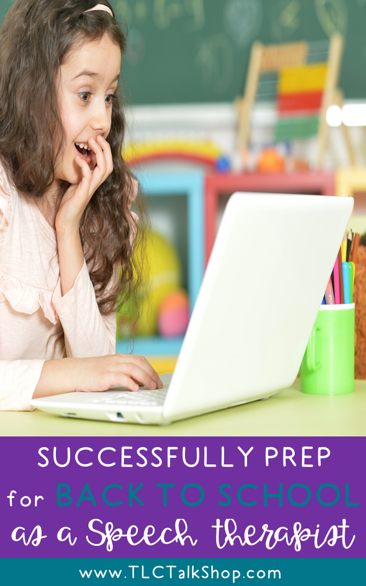Back to School Speech Therapy Prep | School speech therapy ...