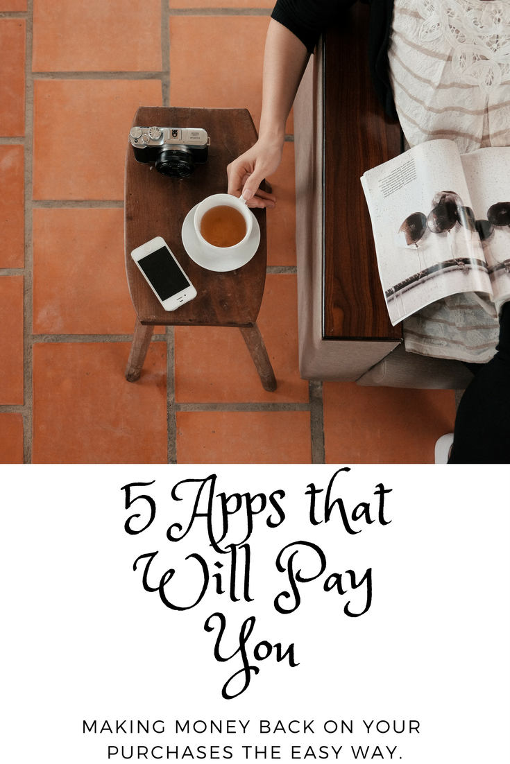 Ever feel like all you do is spend, spend, spend?  The demands of every day life are expensive.  But what if there were ways to EARN money back on things you are already buying?  Check out this post for 5 easy-to-use apps that will help you do exactly that!
