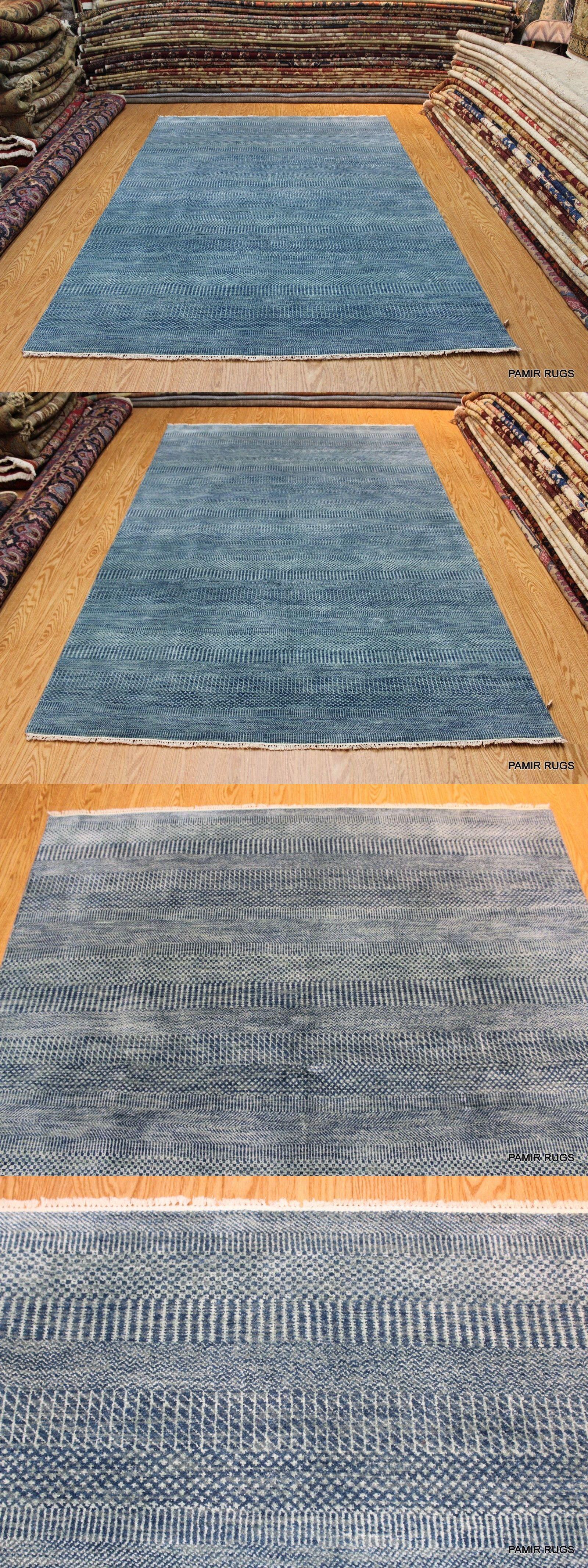 6 X 9 Handmade Hand Knotted Fine Quality Light Navy Blue Rug Natural Wool Ebay Navy Blue Rug Blue Rug Rugs