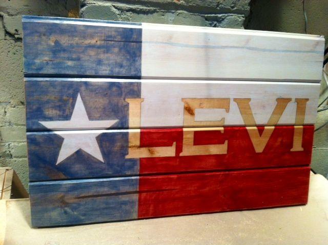 Levi's TX Flag- 1st birthday