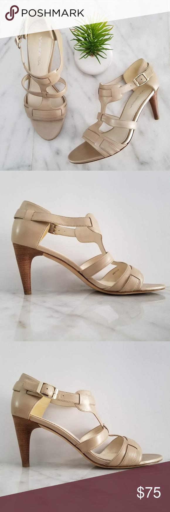 745abda62c0 VIA SPIGA Hilda Sandal Ankle Strap Pearl Heels VIA SPIGA Hilda Sandal  Platinum Pearl Leather Uppers