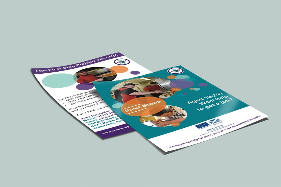 Enable Works Ayrshire  Flyer Or Leaflet Design For Enable Works