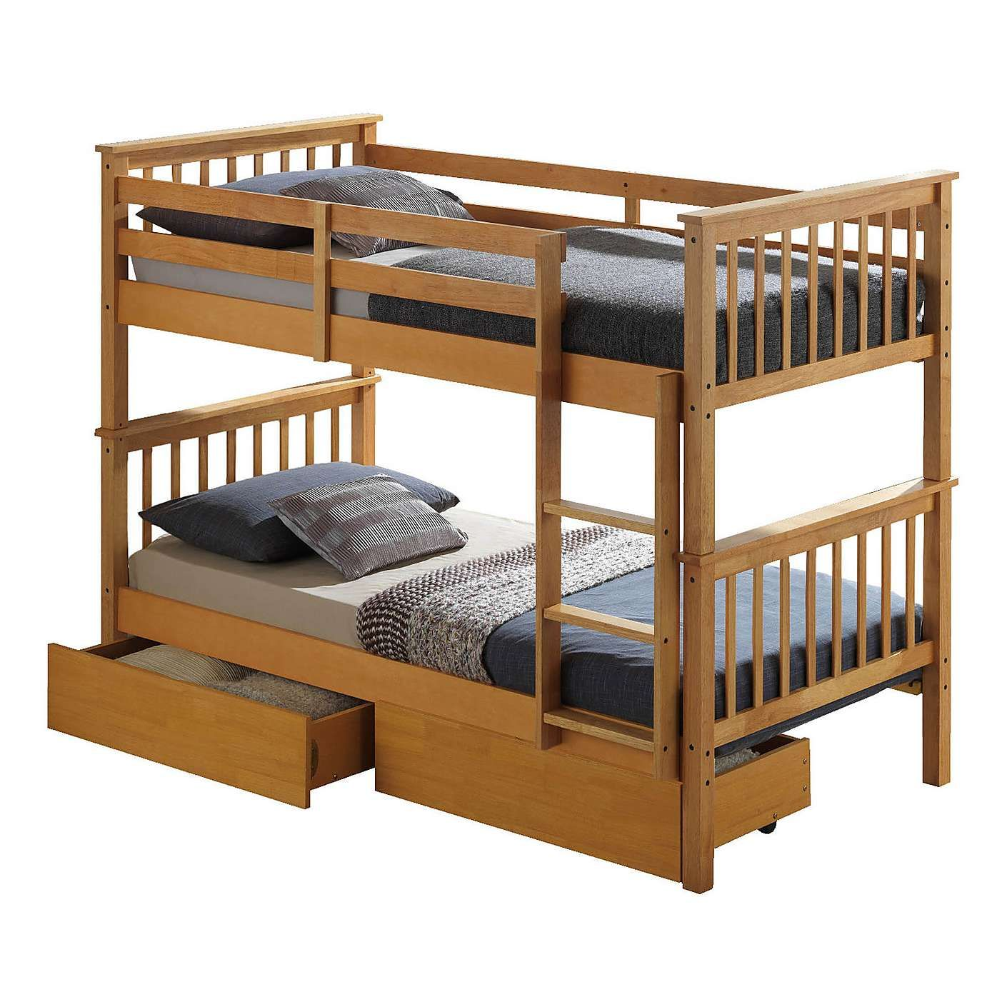 Loft bed plans for full size mattress  Artisan Beech Bunk Bed  Bunk bed Traditional and Bedrooms