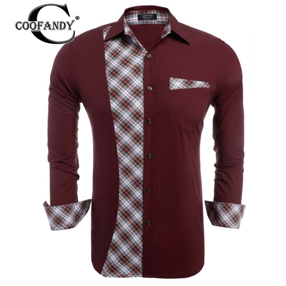 Click to buy ucuc coofandy spring autumn male casual shirt men