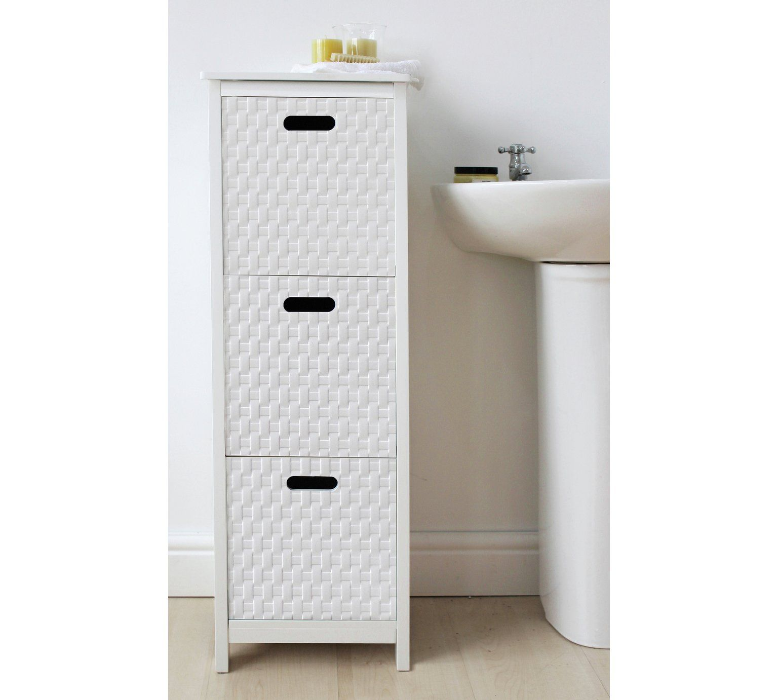 Buy HOME Fareham 3 Drawer Storage Unit - White at Argos.co ...