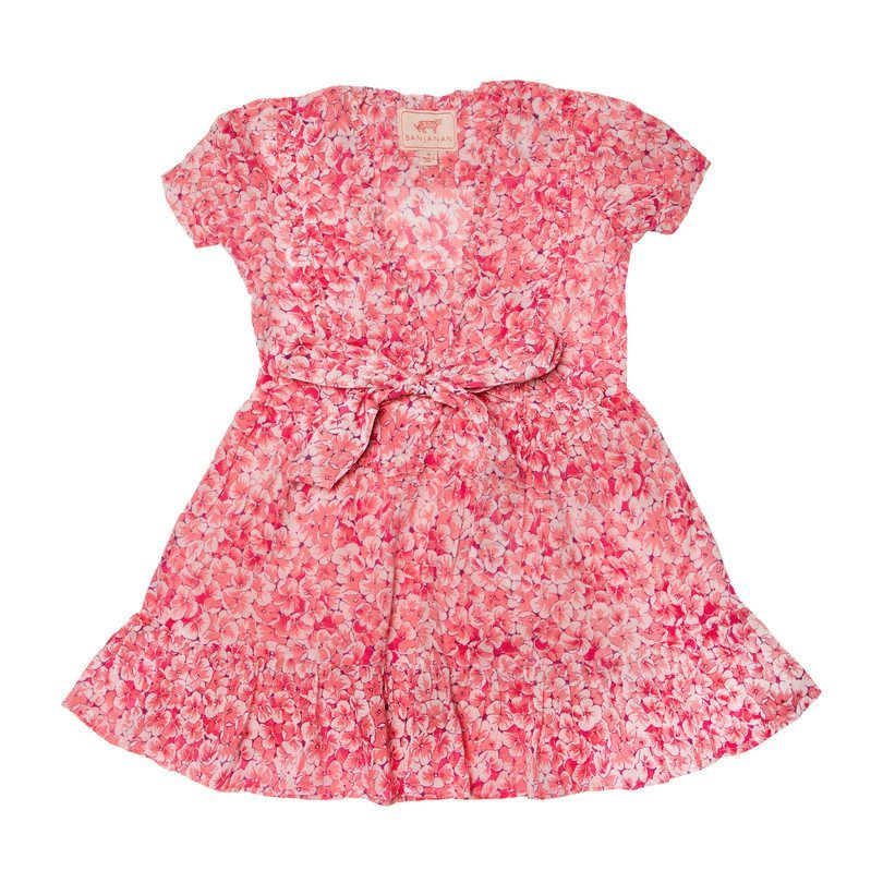 *Exclusive* Sherry Dress, Clover Field Pink - Kids Girl Clothing Dresses - Maisonette