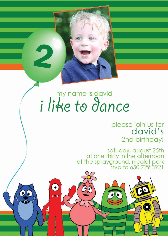 Yo Gabba Gabba Custom Boys Birthday Invitation by Shabi at ...