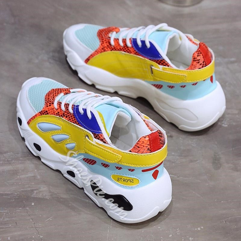 Shoespie Patchwork Color Block Platform Sneakers is part of Sneakers - Buy Shoespie Patchwork Color Block Platform Sneakers From Shoespie com You will find many fashionable products from Sneakers collections
