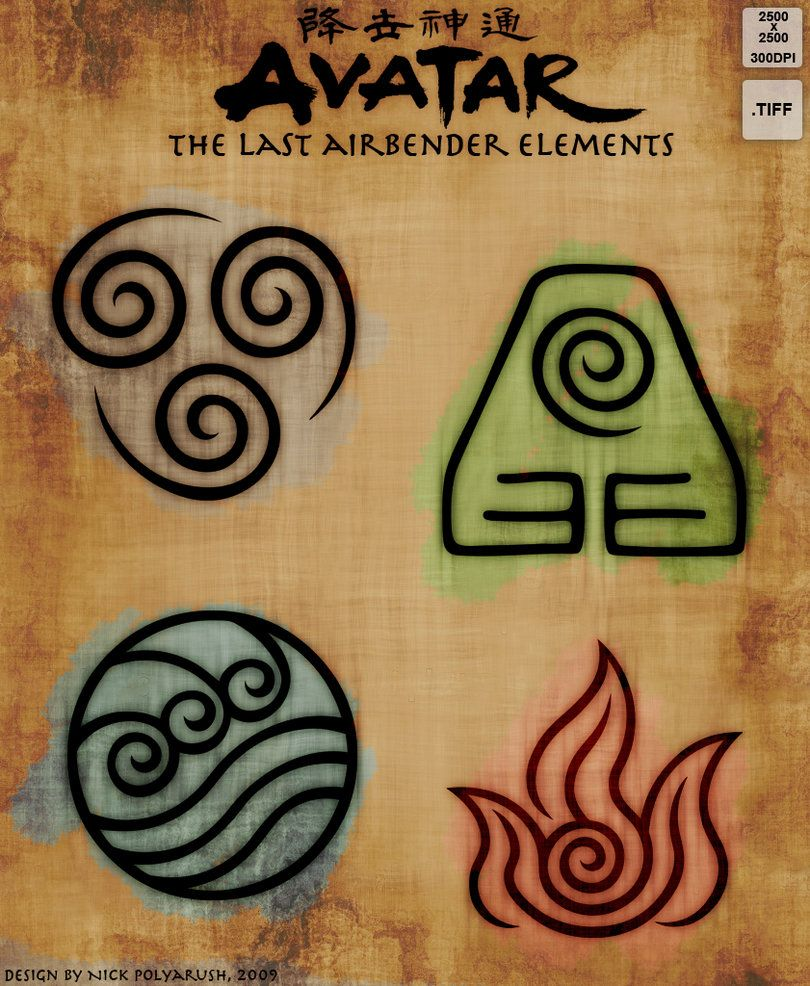 Avatar tla 4 elements resource by nickpolyarush - Tatouage 4 elements ...