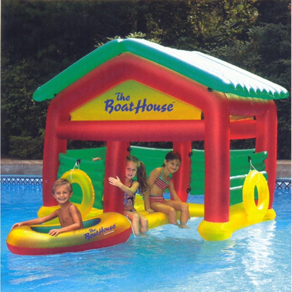 Heritage Boat House Floating Habitat Inflatable Pool Toys Pool