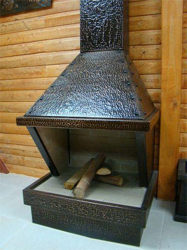 chimenea suiza escala de cobre