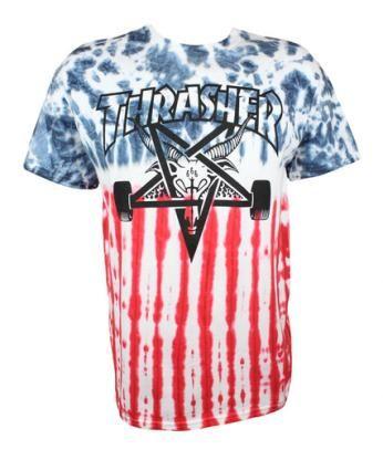 310c17bc292 Thrasher Patriot Skate Goat Tee  49.99  thrasher  tiedye  tshirt ...