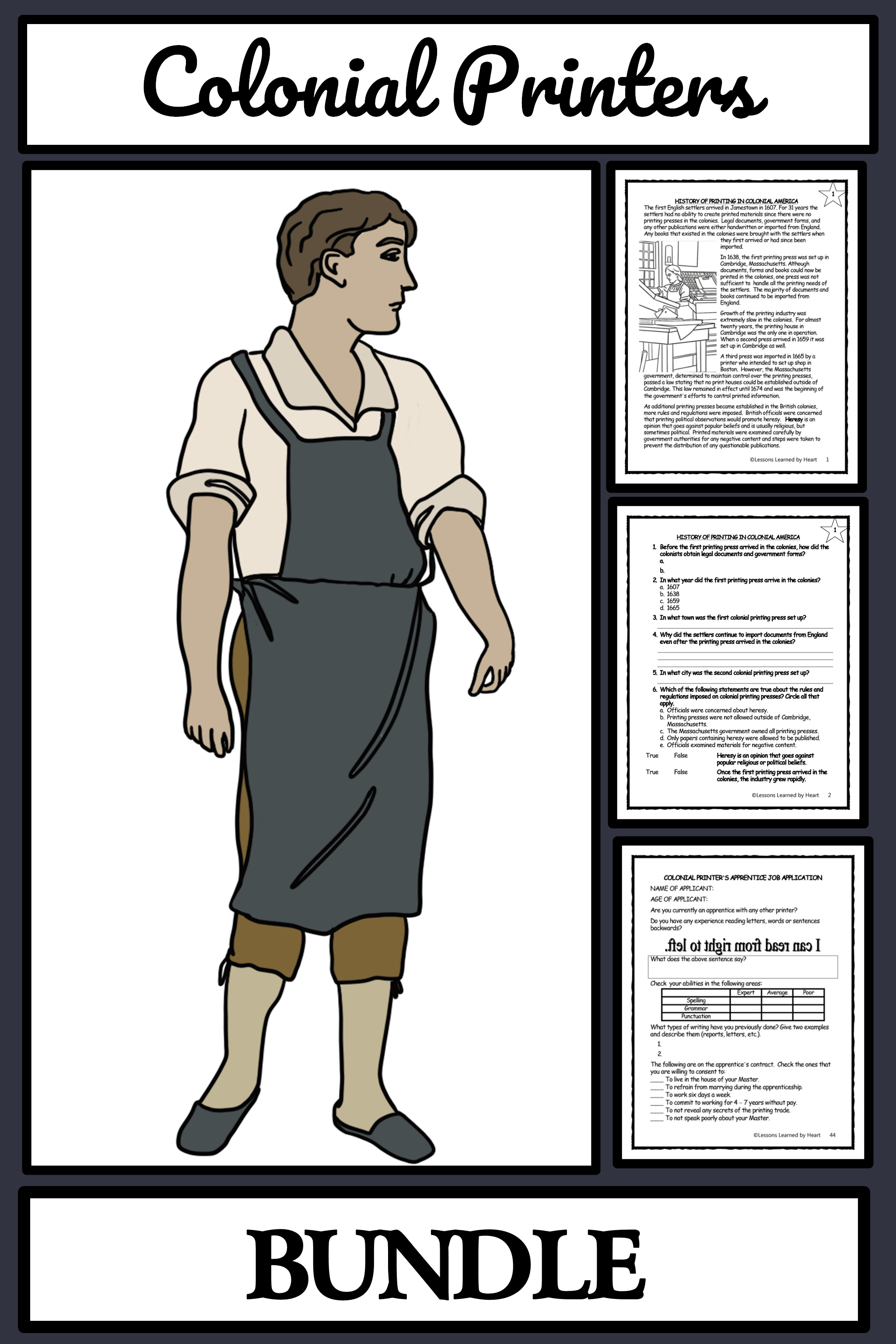 Colonial American Printers Publishers Reading Comprehension Activities Bingo Reading Comprehension Reading Comprehension Activities Reading Passages [ 3072 x 2048 Pixel ]