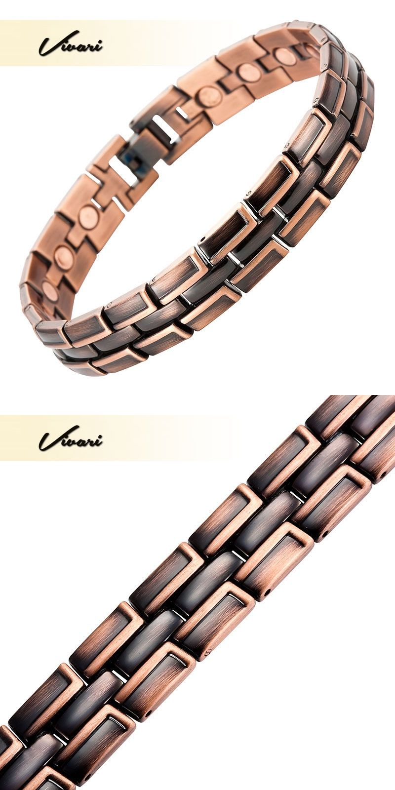 Vivari charm magnetic bracelet men bio energy healing classic