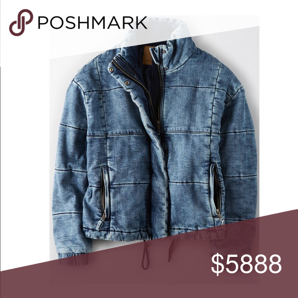 8c30ebdd52 AMERICAN EAGLE DENIM PUFFER JACKET! looking for this denim jacket form