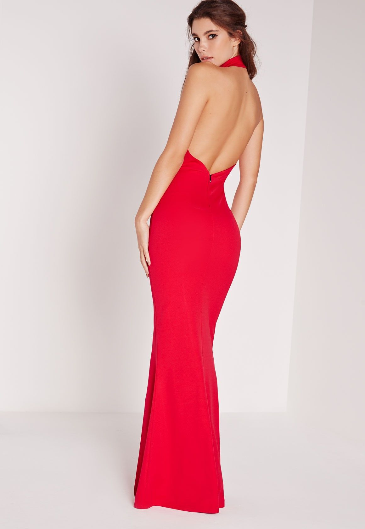 Missguided - High Neck Maxi Dress Red | Dresses | Dresses ...