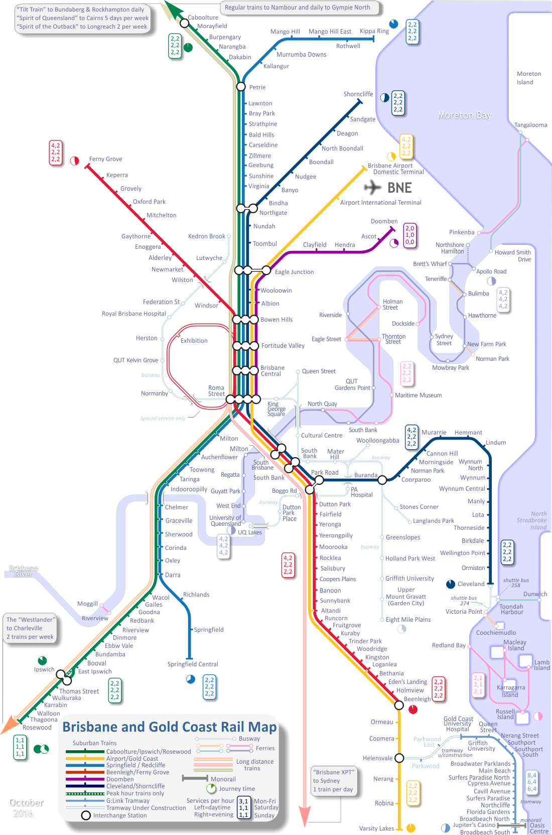 Rail Map of Brisbane Miss Pinterest Brisbane and Train map