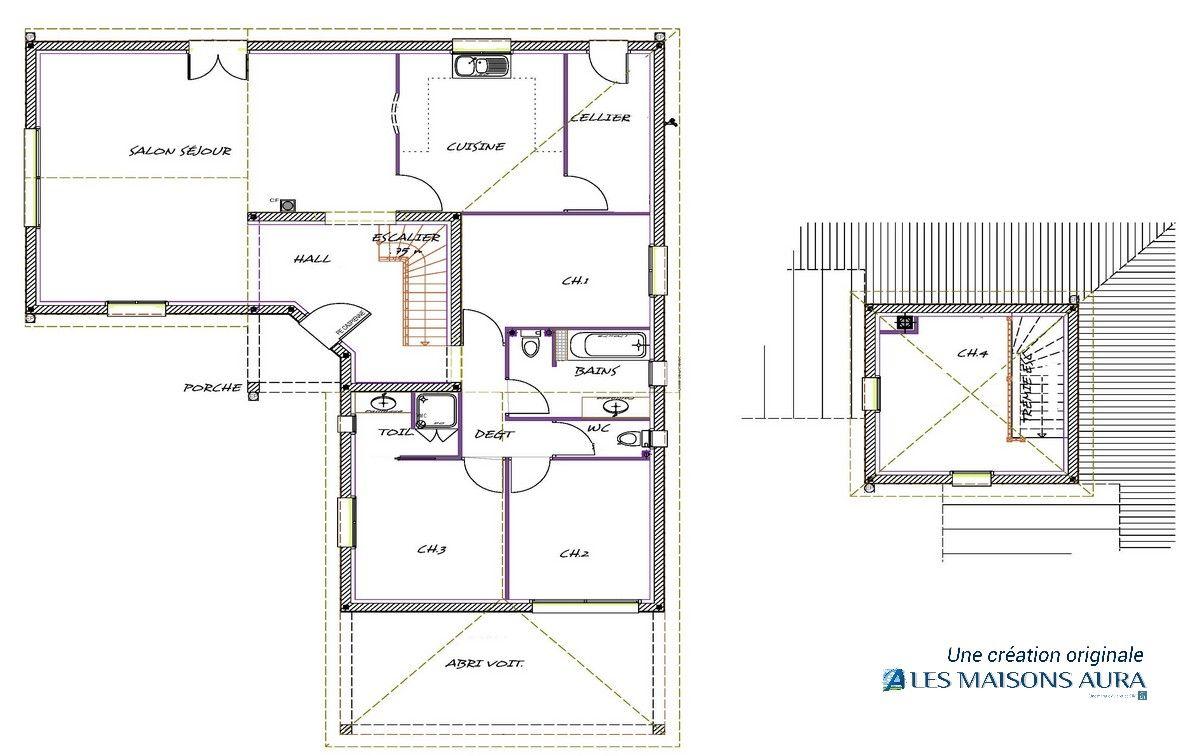 Plan Du0027une Belle Maison Périgourdine à étage, En Dordogne