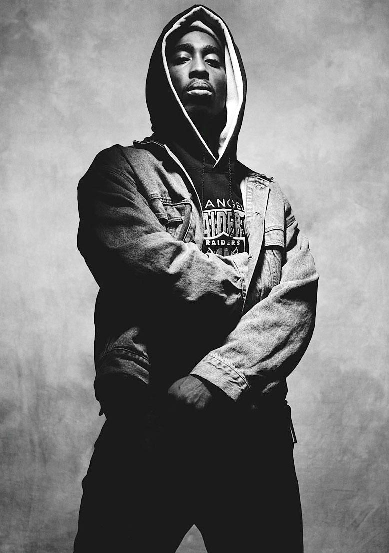 2Pac Fille Tupac Shakur Praying Sweat-Shirt