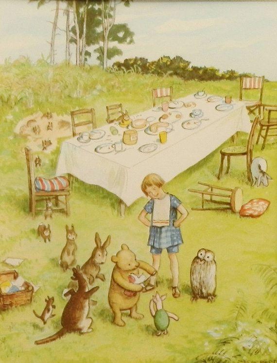 Winnie the Pooh Birthday Gift Boy, Girl Nursery Wall Art Print ...